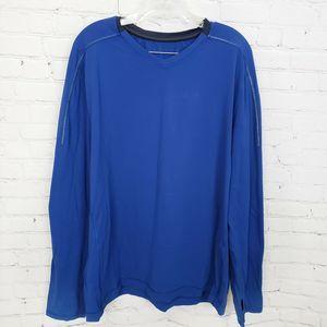 Lululemon Mens V-Neck Activewear Long Sleeve Blue